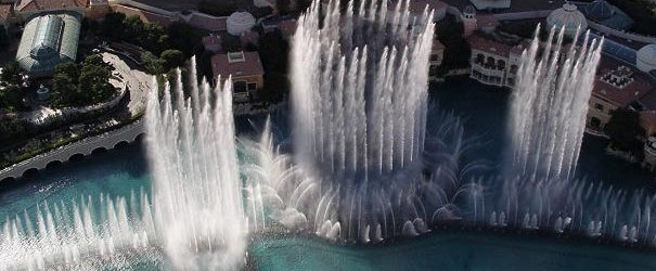 The Fountains of Bellagio is a vast, choreographed water feature with performances set to light and music. (See musical fountain.) The performances take place in front of the Bellagio hotel […]